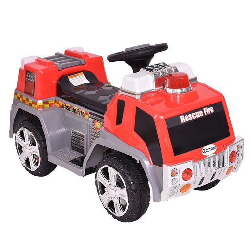 6V 4.5A Electric Ride on Fire Engine with Lights and Music - ZP119 - GADGET EXPRESS®