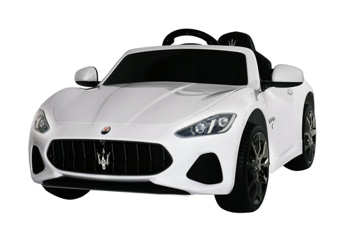 Maserati GranCabrio Sport Licenced 12V 7A Battery Powered Kids Electric Ride On Toy Car (MODEL S302 WHITE)