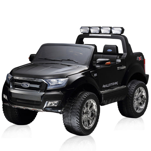 Latest 2015 Model FORD RANGER Licensed 4x4 Kids Electric Ride On Car with Remote Control LED Lights and Music (F650) BLACK - GADGET EXPRESS®