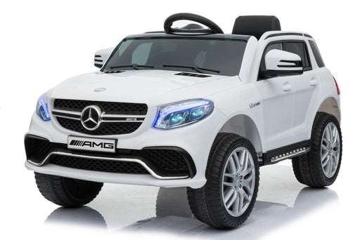 MERCEDES BENZ GLE63S AMG Licensed 4x4 Kids Electric Ride On Car with Remote Control LED Lights and Music (TR1701 WHITE) - GADGET EXPRESS®