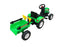 Ricco Green JD Style Foot Pedal Tractor Ride On with Trailer and Tools