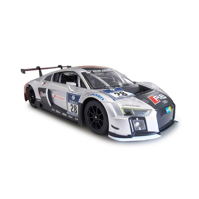 RASTAR RC75300 Genuine Licensed 1: 14 RC Audi R8 LMS Radio Remote Control Car Silver - GADGET EXPRESS®