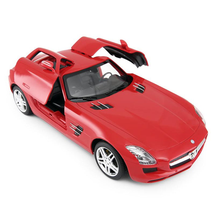 RASTAR RC47600 Genuine Licensed 1: 14 RC Mercedes-Benz SLS AMG Open Door Radio Remote Control Car Red - GADGET EXPRESS®