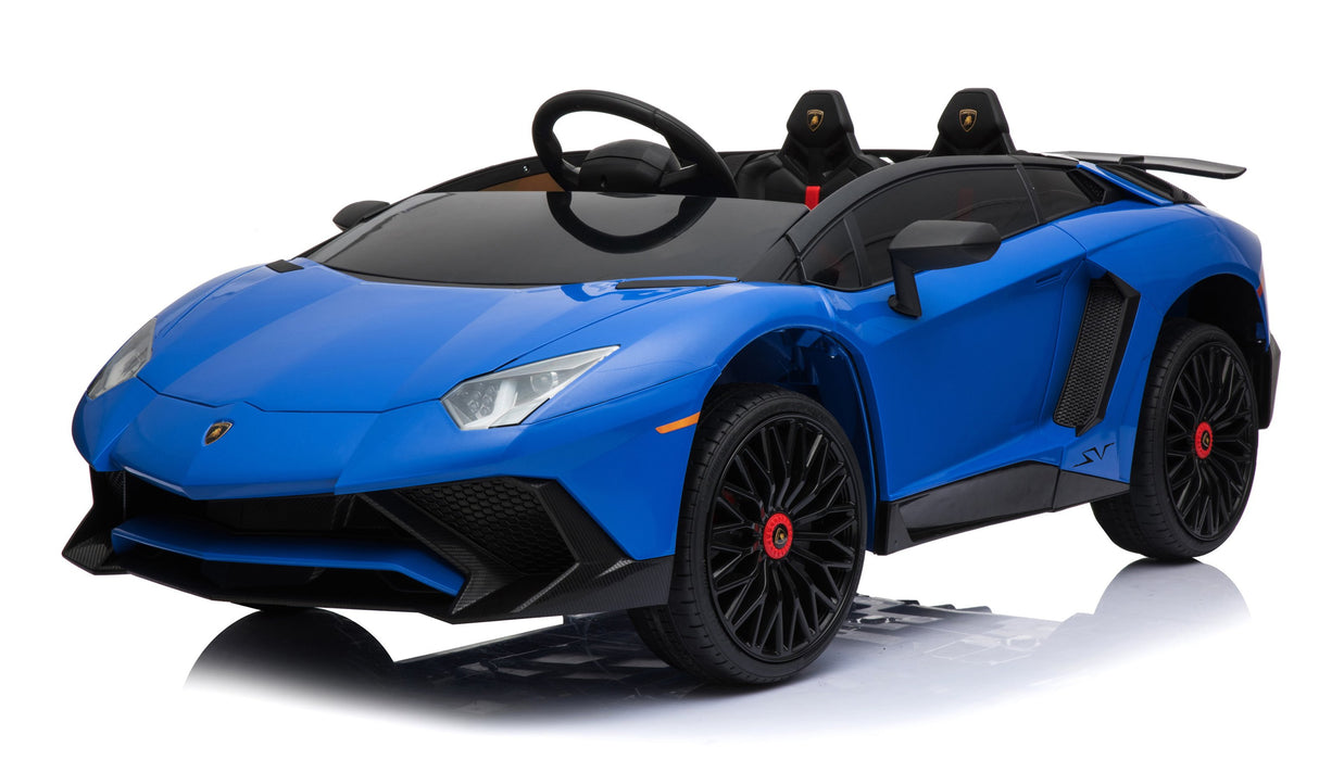 12V 7A Lamborghini Aventador SV Licensed Battery Powered Kids Electric Ride On Toy Car BDM0913 BLUE