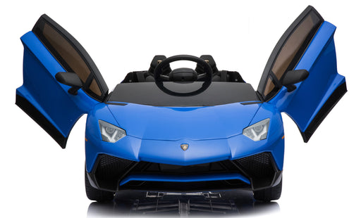 12V 7A Lamborghini Aventador SV Licensed Battery Powered Kids Electric Ride On Toy Car BDM0913 BLUE - GADGET EXPRESS®