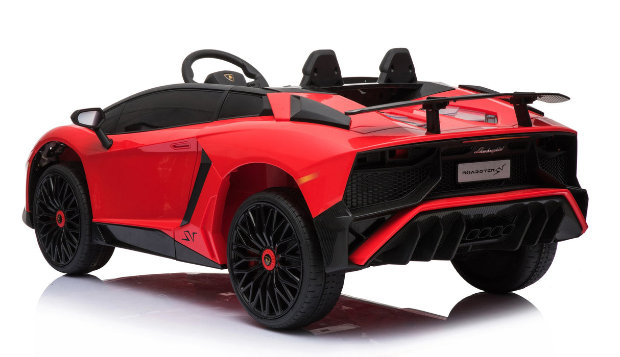 12V 7A Lamborghini Aventador SV Licensed Battery Powered Kids Electric Ride On Toy Car BDM0913 RED