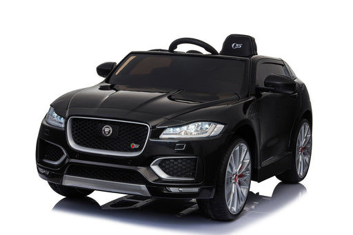 Jaguar F Pace Licensed 12V 7A  Battery Powered Kids Electric Ride On Toy Car (MODEL LS818) Metallic Black - GADGET EXPRESS®