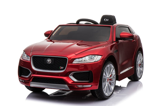 Jaguar F Pace Licensed 12V 7A  Battery Powered Kids Electric Ride On Toy Car (MODEL LS818) Metallic Red - GADGET EXPRESS®