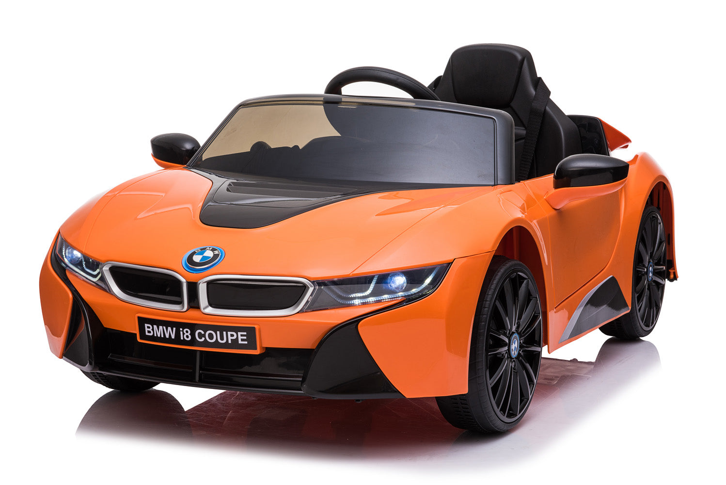 BMW i8 Licensed 12V  4.5A Two Motors Battery Powered Electric Ride On Toy Car (Model: JE1001)