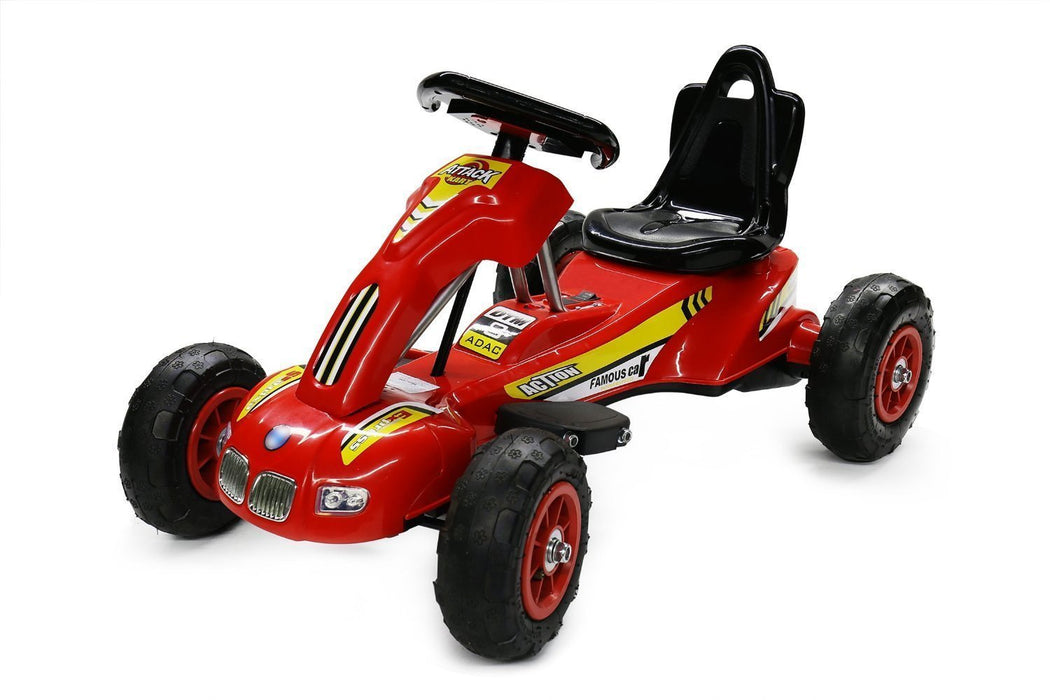 6V 12W Battery Powered Electric Go Kart Rubber Air Wheels (Model: S1388) RED - GADGET EXPRESS®