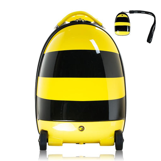 Kids Battery Powered Remote Control Walking Suitcase Cabin Hand Luggage (BEE) RST1601 - GADGET EXPRESS®