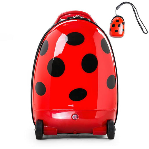 Kids Battery Powered Remote Control Walking Suitcase Cabin Hand Luggage (LADYBUG) RST1603 - GADGET EXPRESS®