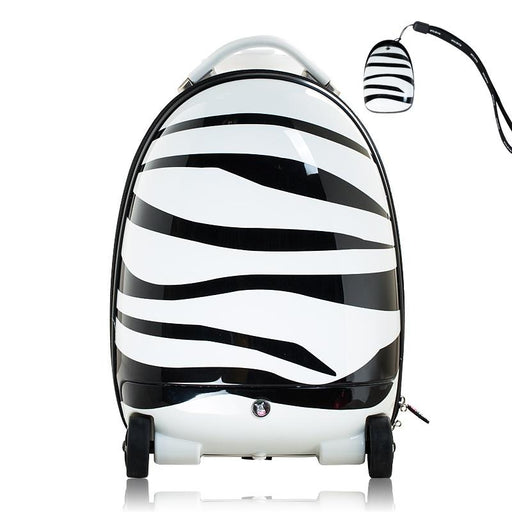 Kids Battery Powered Remote Control Walking Suitcase Cabin Hand Luggage (ZEBRA) RST1602 - GADGET EXPRESS®