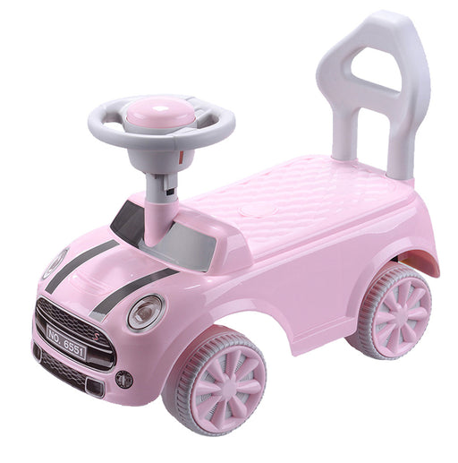 Foot to Floor Push Along Manual Ride On Car (2 colours, 1-3 years old) - ZX6551