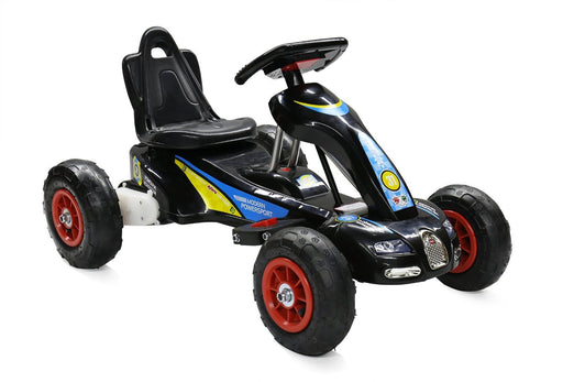 6V 12W Battery Powered Electric Go Kart Rubber Air Wheels (Model: S1288) BLACK - GADGET EXPRESS®
