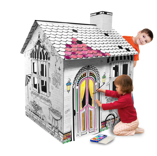 Kids 3D Cardboard Playhouse for Craft Colouring and Pretended Play (My Resort House)