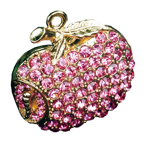8GB PINK APPLE Jewellery Swarovski Elements USB 2.0 Flash Drive Memory Stick - GADGET EXPRESS®