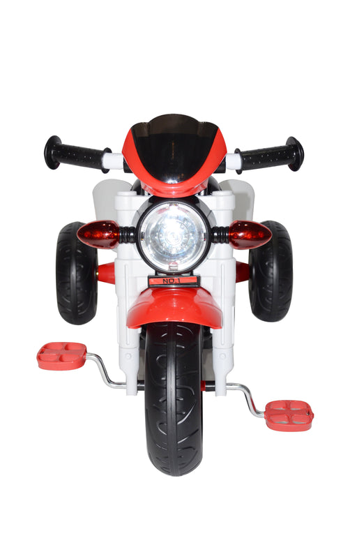 Kids Motor Bike Designed Manual Pedal Ride On Push Along Tricycle Trike with Light and Music XG6333 - GADGET EXPRESS®
