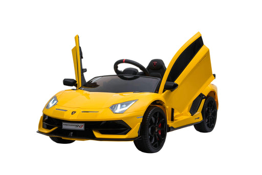 Lamborghini Aventador SVJ Licensed 12V 7A Battery Powered Kids Electric Ride On Toy Car