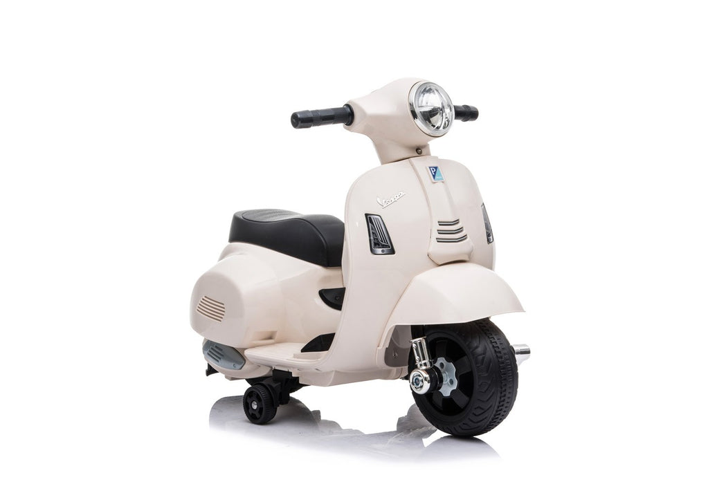 Vespa GTS Licensed 6V Ride On Scooter Bike with Training Wheels (4 Colours)