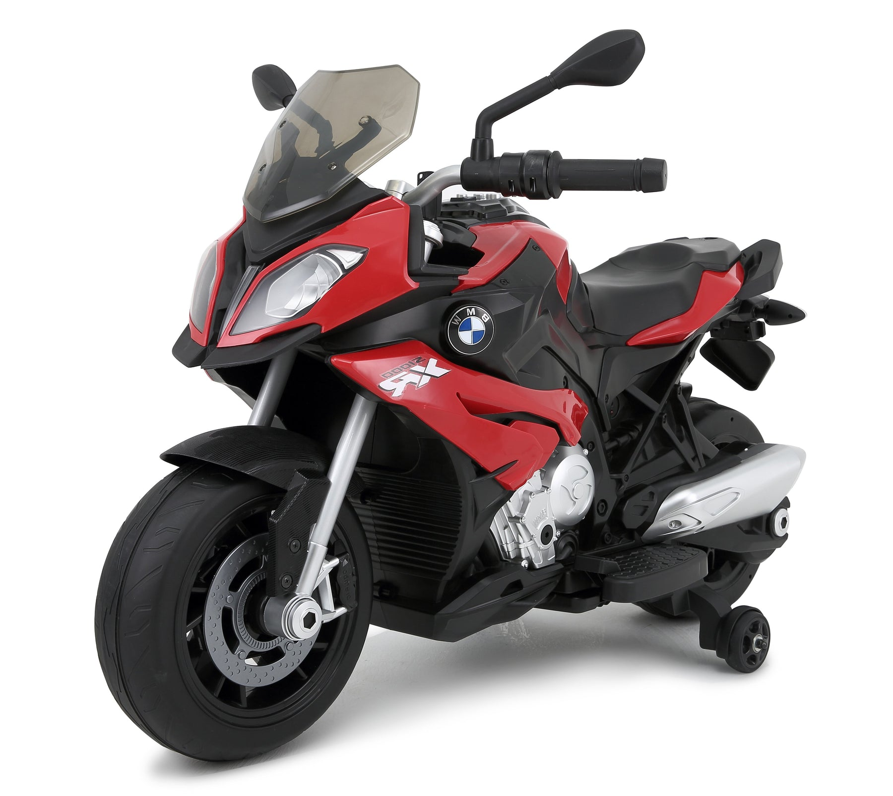 BMW S1000XR Licenced 12V 7A  Battery Powered Kids Electric Ride On Toy Motorcycle Road Bike (RS87700 RED) - GADGET EXPRESS®