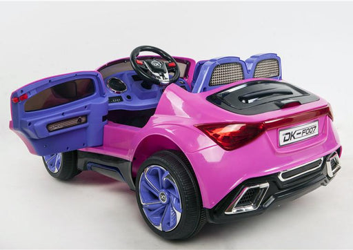 (NOW WITH LEATHER SEATS !) 12V Battery Powered Kids Electric Ride On Toy Car (Model: F007) PINK