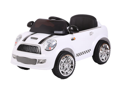 Kids Battery Powered Electric Ride On MINI Style Toy Car with Parental Remote Control (Model: S6088) (WHITE) - GADGET EXPRESS®