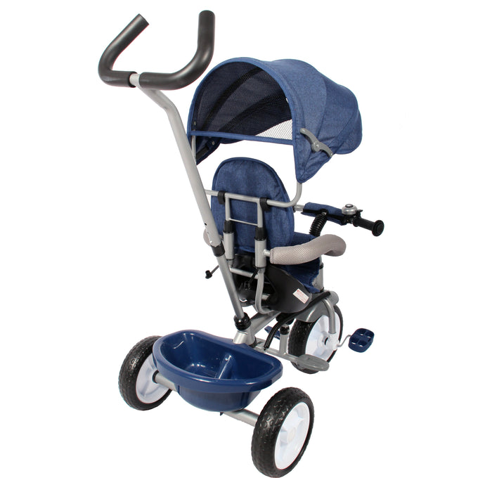 Kids Easy Steer Pedal Tricycle Buggy Stroller with Oxford Cloth (Model XG18859) - GADGET EXPRESS®
