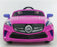 (NOW WITH LEATHER SEATS !) 12V Battery Powered Kids Electric Ride On Toy Car (Model: F007) PINK - GADGET EXPRESS®