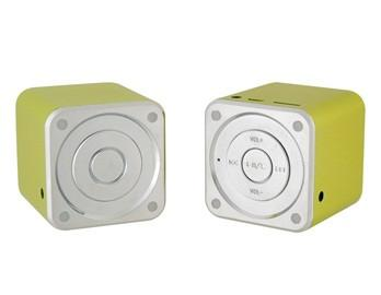 2x Cube Aluminium Portable Travel Speaker MP3 Player AUX Line-in Laptop - MD06C - GADGET EXPRESS®