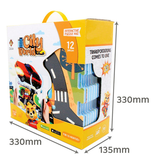 3D Interactive AR Popup EVA Puzzle Mat- SNB004 CITY WORLD