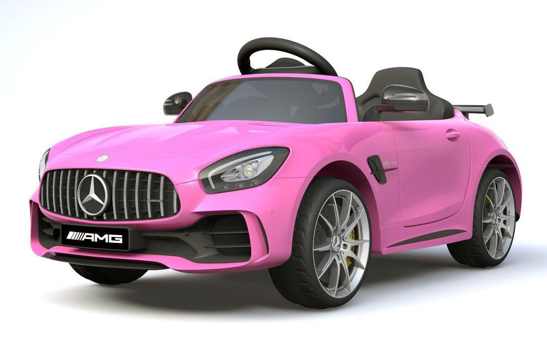 6V 4.5A Two Motors Mercedes Benz GTR AMG Licenced Battery Powered Kids Electric Ride On Toy Car HL288 PINK - GADGET EXPRESS®