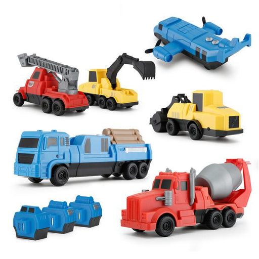6-in-1 Combo Magnetic Construction Pull Back Vehicles - RS77800 - GADGET EXPRESS®