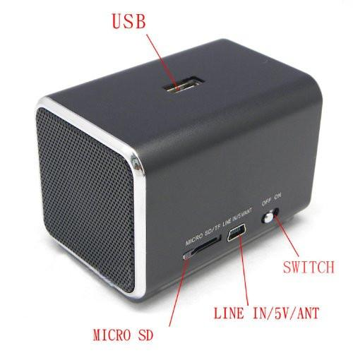 Ricco MD05X LCD DISPLAY MINI 2.0 CHANNEL Ultra Light Aluminium USB Portable Travel Speaker