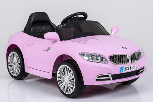 Kids 2x6V 15W TWO MOTORS Battery Powered BMW Style Electric Ride On Toy Car (Model: S2188) PINK - GADGET EXPRESS®