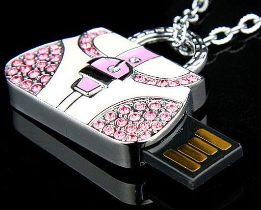 8GB HANDBAG Jewellery Swarovski Elements USB 2.0 Flash Drive Thumb Memory Stick - GADGET EXPRESS®