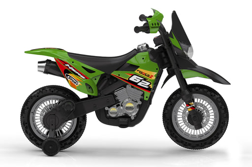 6V 4.5A 35W Battery Powered Kids Electric Ride On Dirt Motor Bike (Model: BDM0912) Green - GADGET EXPRESS®