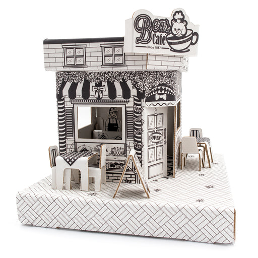 Ricco Kids 3D Cardboard Craft Colouring Mini Playhouse (Mini Cafe)