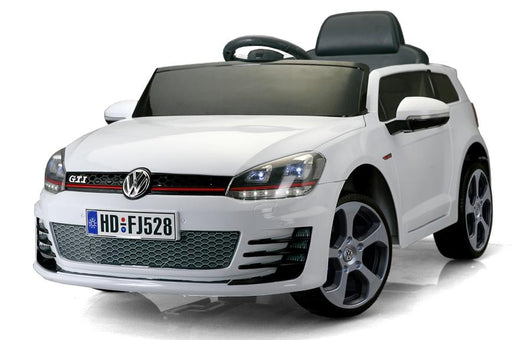 12V 7A Electric Ride on Volkswagen Golf GTI - HD528 WHITE - GADGET EXPRESS®