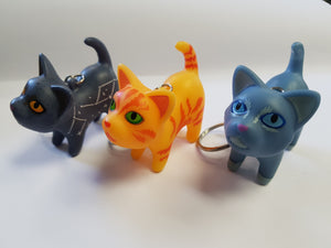 Keyring (Set of 3) Firestar, Greywing & Mistystar.
