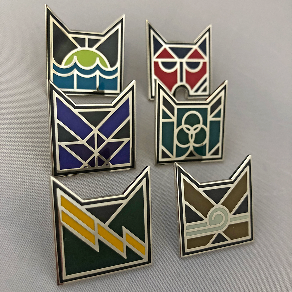 Complete set of Six Art Deco Pin Badges - Special Edition on Pre-Order
