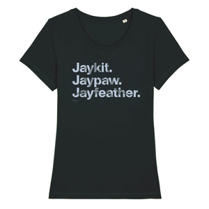 Character Names - Jayfeather - Adult Ladies T-Shirt