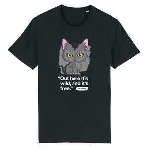 Out here it's wild - Graystripe - Adult Unisex T-Shirt