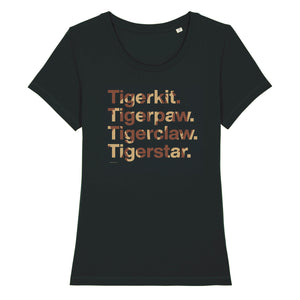 Character Names - Tigerstar - Adult Ladies T-Shirt