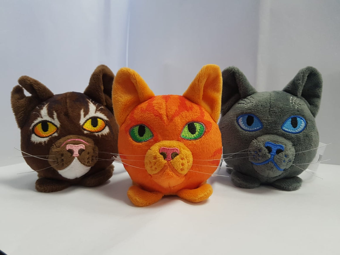 Set of 3 - Mini-Plush Heads