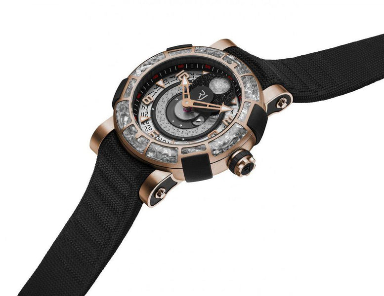 With  RJ (Romain Jerome), you can wear parts of the Apollo 11 spacecraft on your wrist