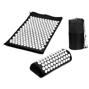 Yoga Spike Acupressure Mat Pillow Set Relieve Stress Tension Pain Acupuncture Cushion Mat w/ Carry Bag Drop Shipping