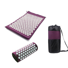 Load image into Gallery viewer, Yoga Spike Acupressure Mat Pillow Set Relieve Stress Tension Pain Acupuncture Cushion Mat w/ Carry Bag Drop Shipping