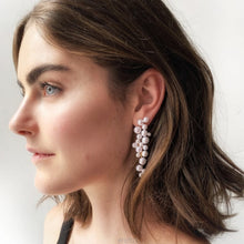 Load image into Gallery viewer, Leaf Pearl Long Pendant Earring - My eTech
