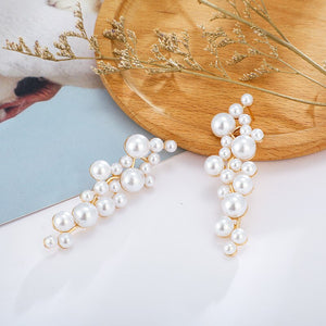 Leaf Pearl Long Pendant Earring - My eTech